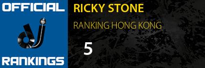 RICKY STONE RANKING HONG KONG