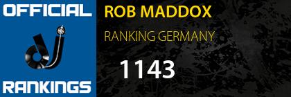 ROB MADDOX RANKING GERMANY