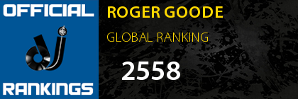 ROGER GOODE GLOBAL RANKING