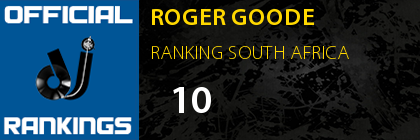 ROGER GOODE RANKING SOUTH AFRICA