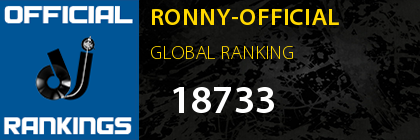 RONNY-OFFICIAL GLOBAL RANKING