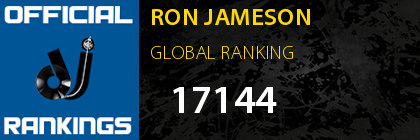 RON JAMESON GLOBAL RANKING
