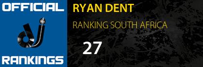 RYAN DENT RANKING SOUTH AFRICA