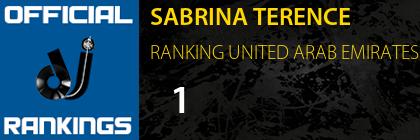 SABRINA TERENCE RANKING UNITED ARAB EMIRATES