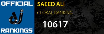 SAEED ALI GLOBAL RANKING