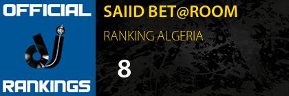 SAIID BET@ROOM RANKING ALGERIA