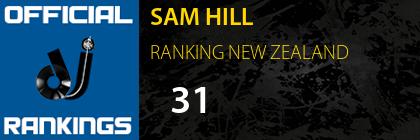 SAM HILL RANKING NEW ZEALAND