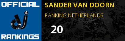 SANDER VAN DOORN RANKING NETHERLANDS