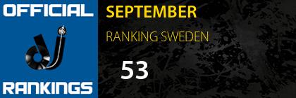 SEPTEMBER RANKING SWEDEN