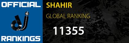 SHAHIR GLOBAL RANKING