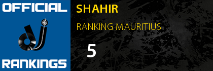 SHAHIR RANKING MAURITIUS