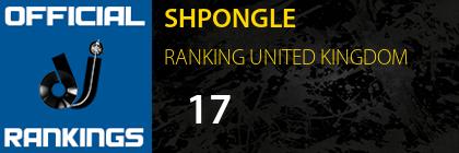 SHPONGLE RANKING UNITED KINGDOM