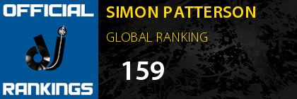 SIMON PATTERSON GLOBAL RANKING