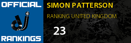 SIMON PATTERSON RANKING UNITED KINGDOM