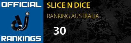 SLICE N DICE RANKING AUSTRALIA
