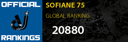 SOFIANE 75 GLOBAL RANKING