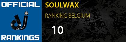 SOULWAX RANKING BELGIUM