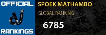 SPOEK MATHAMBO GLOBAL RANKING