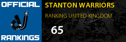 STANTON WARRIORS RANKING UNITED KINGDOM