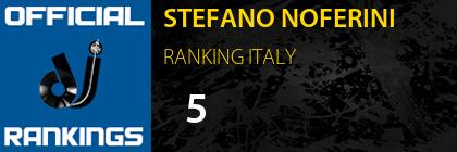 STEFANO NOFERINI RANKING ITALY