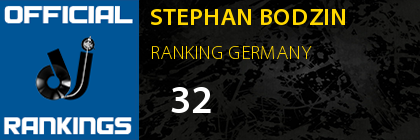 STEPHAN BODZIN RANKING GERMANY