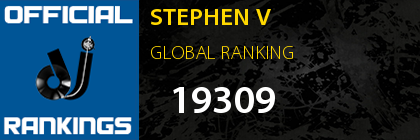 STEPHEN V GLOBAL RANKING