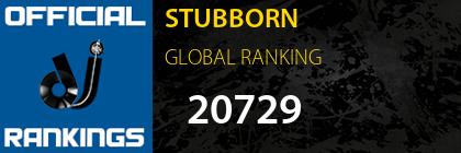 STUBBORN GLOBAL RANKING