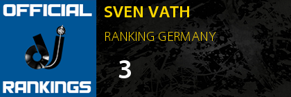 SVEN VATH RANKING GERMANY