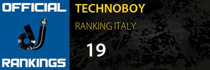 TECHNOBOY RANKING ITALY