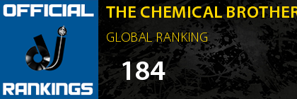THE CHEMICAL BROTHERS GLOBAL RANKING