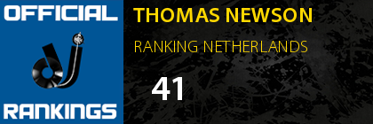 THOMAS NEWSON RANKING NETHERLANDS