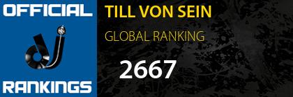 TILL VON SEIN GLOBAL RANKING