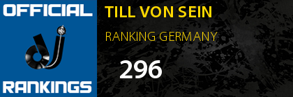 TILL VON SEIN RANKING GERMANY