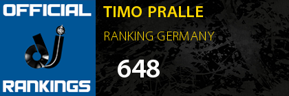TIMO PRALLE RANKING GERMANY