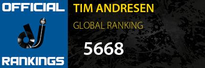 TIM ANDRESEN GLOBAL RANKING