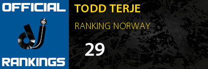 TODD TERJE RANKING NORWAY