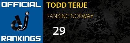 TODD TERJE RANKING NORWAY