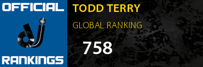 TODD TERRY GLOBAL RANKING