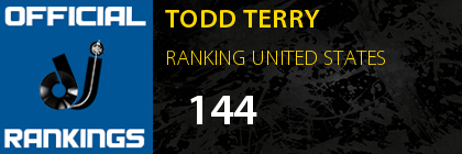 TODD TERRY RANKING UNITED STATES