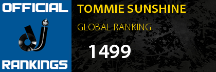 TOMMIE SUNSHINE GLOBAL RANKING