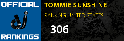 TOMMIE SUNSHINE RANKING UNITED STATES