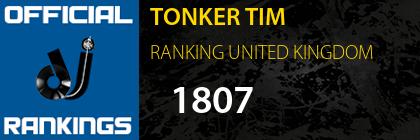 TONKER TIM RANKING UNITED KINGDOM