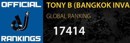 TONY B (BANGKOK INVADERS) GLOBAL RANKING