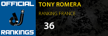 TONY ROMERA RANKING FRANCE
