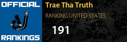 Trae Tha Truth RANKING UNITED STATES