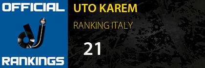 UTO KAREM RANKING ITALY