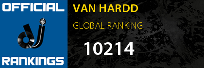 VAN HARDD GLOBAL RANKING