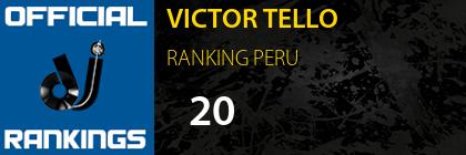 VICTOR TELLO RANKING PERU