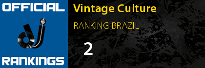 Vintage Culture RANKING BRAZIL