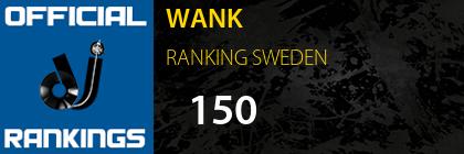 WANK RANKING SWEDEN